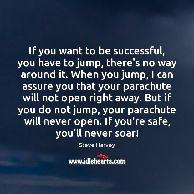 If you want to be successful, you have to jump, there's no To Be Successful Quotes Image