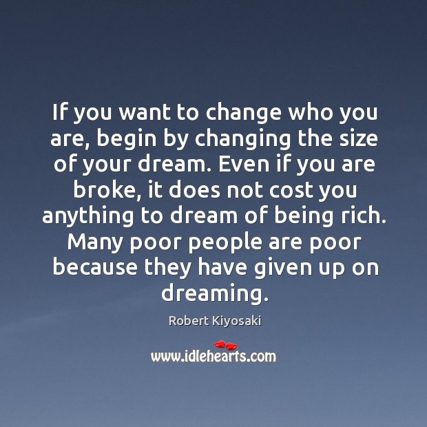 If you want to change who you are, begin by changing the Image