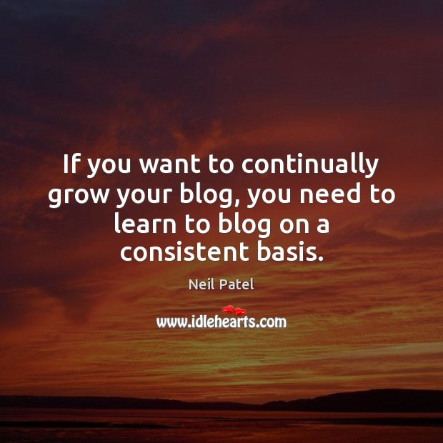 If you want to continually grow your blog, you need to learn Image