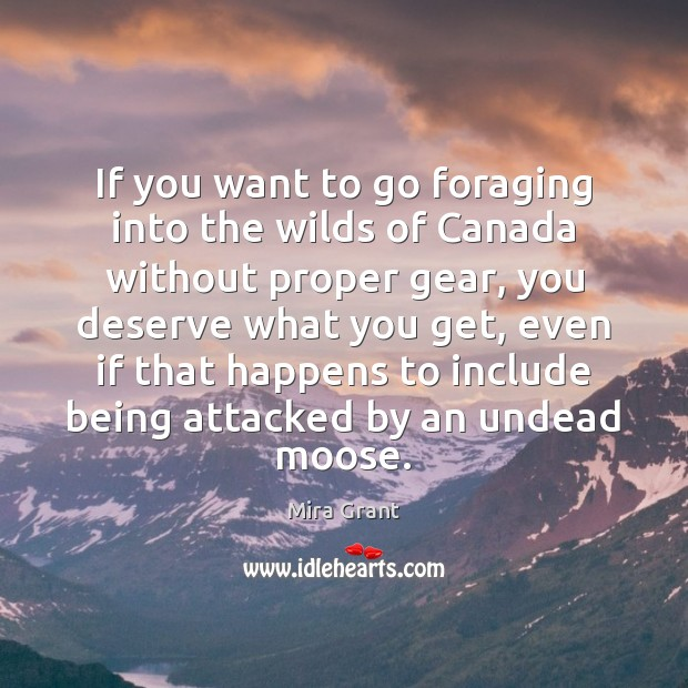 If you want to go foraging into the wilds of Canada without Image