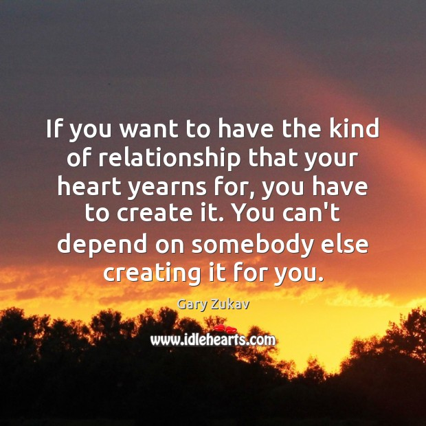 If you want to have the kind of relationship that your heart Image