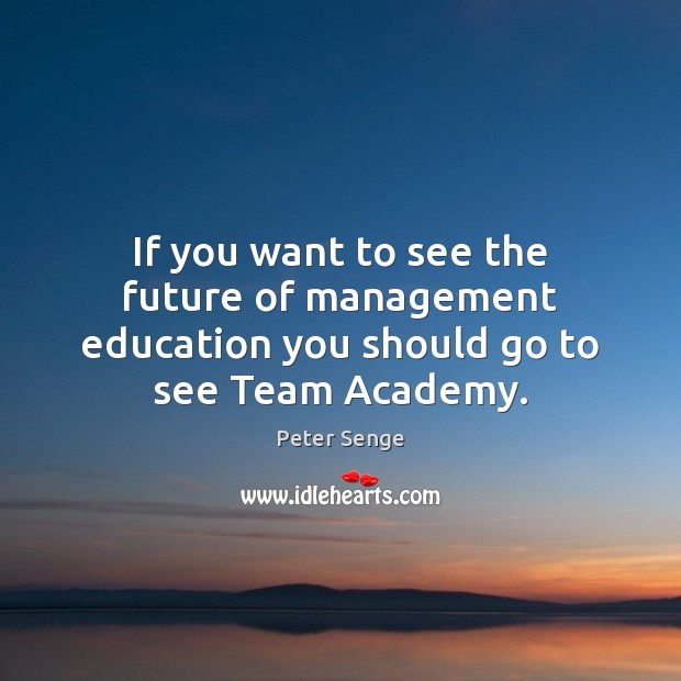 If you want to see the future of management education you should go to see Team Academy. Image