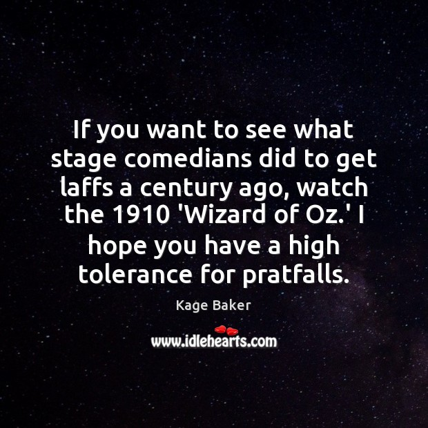 If you want to see what stage comedians did to get laffs Image