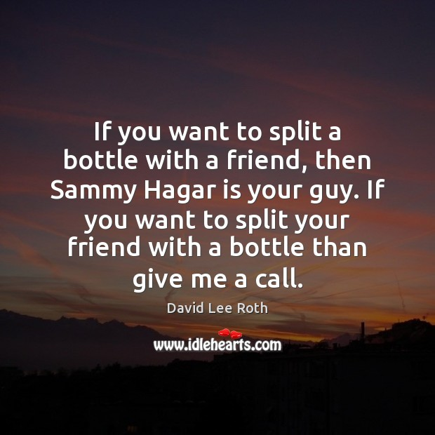 If you want to split a bottle with a friend, then Sammy Image