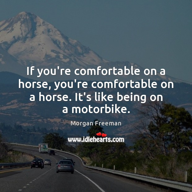If you're comfortable on a horse, you're comfortable on a horse. It's Image