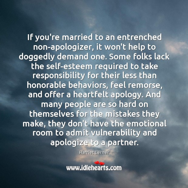 Image, If you're married to an entrenched non-apologizer, it won't help to doggedly