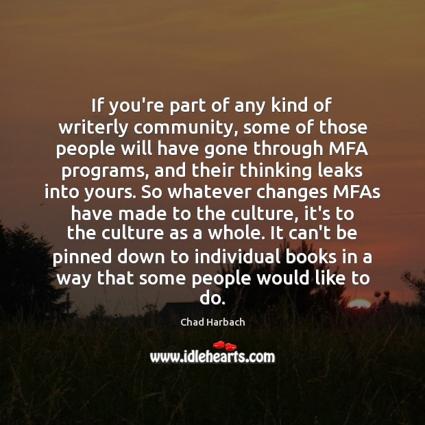 If you're part of any kind of writerly community, some of those Image