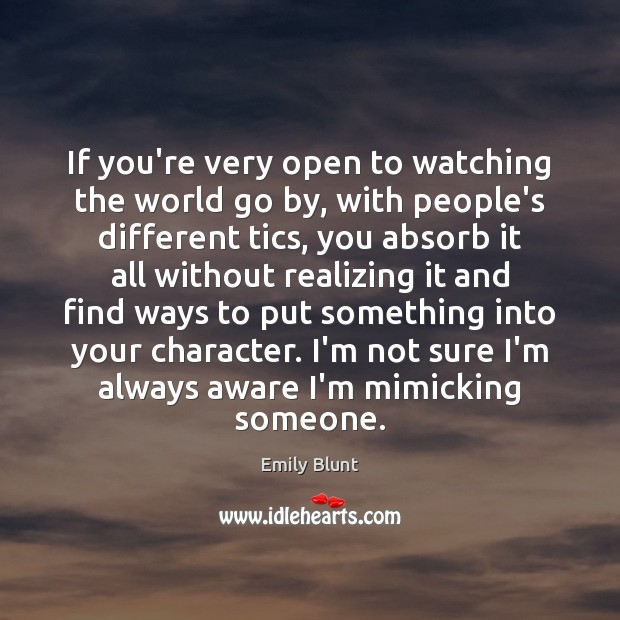 If you're very open to watching the world go by, with people's Image