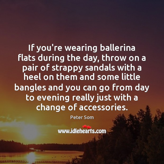Image, If you're wearing ballerina flats during the day, throw on a pair