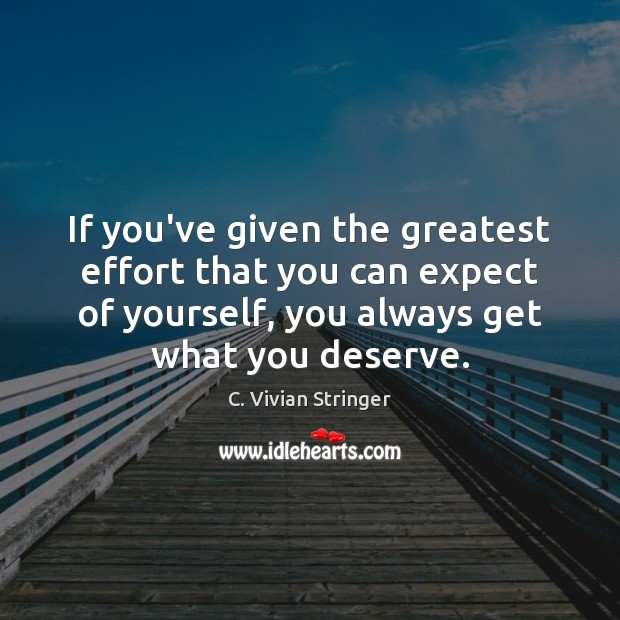 Image, If you've given the greatest effort that you can expect of yourself,