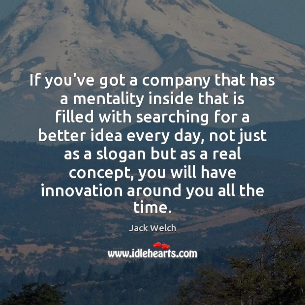 If you've got a company that has a mentality inside that is Image