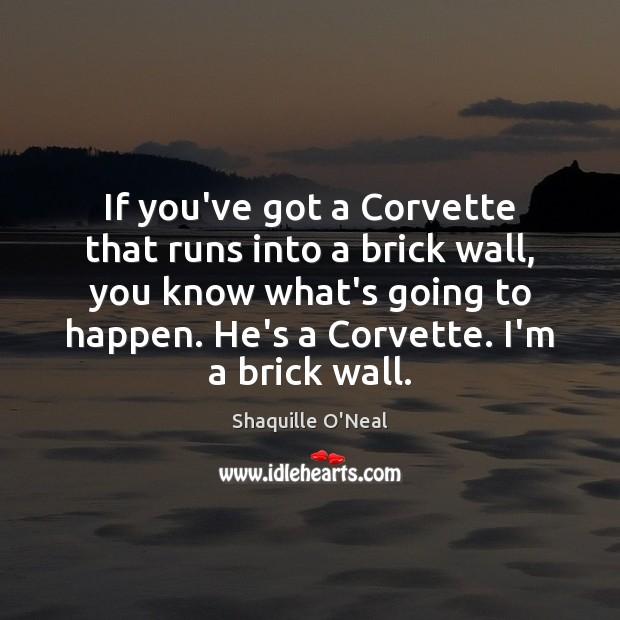 If you've got a Corvette that runs into a brick wall, you Image