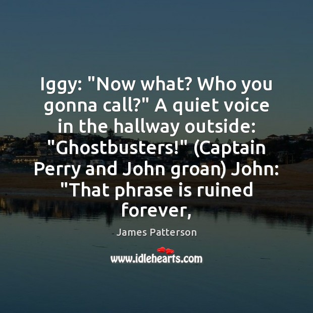 """Image, Iggy: """"Now what? Who you gonna call?"""" A quiet voice in the"""