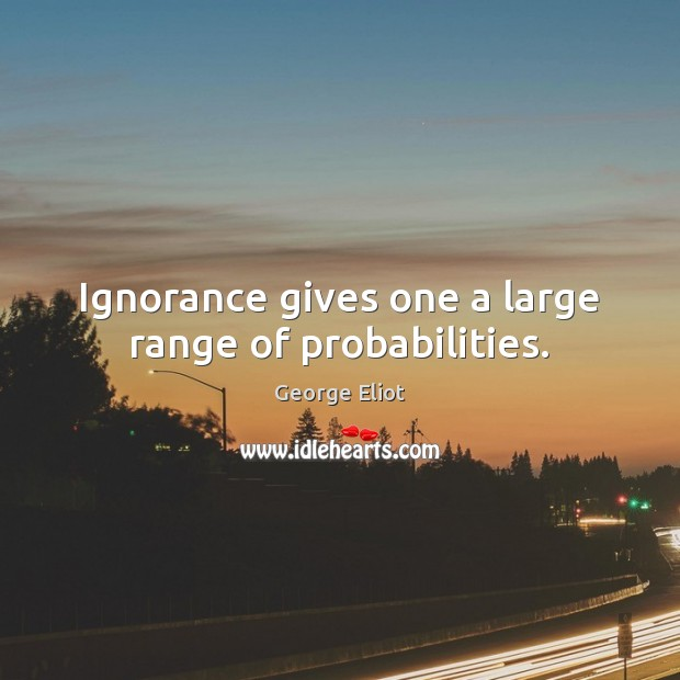Ignorance gives one a large range of probabilities. Image