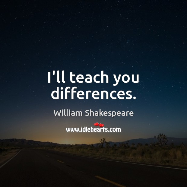 Image, I'll teach you differences.