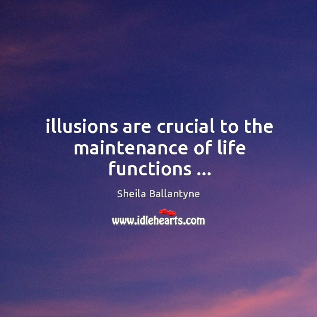 Illusions are crucial to the maintenance of life functions … Image