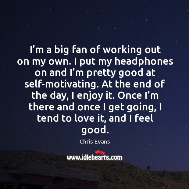 I'm a big fan of working out on my own. I put my headphones on and I'm pretty good at self-motivating. Image