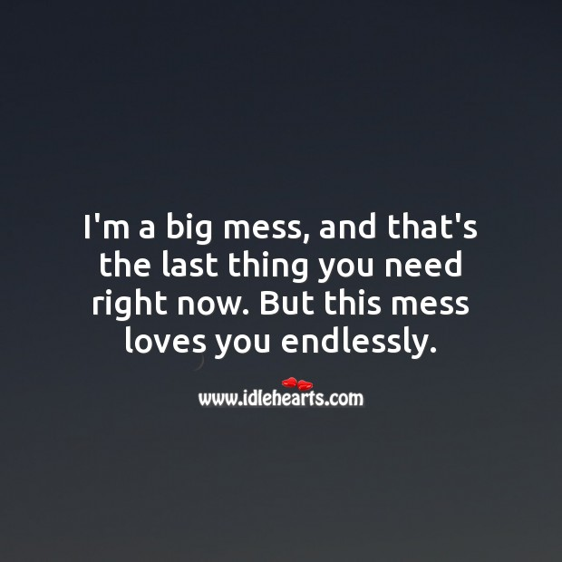Image, I'm a big mess, but this mess loves you endlessly.