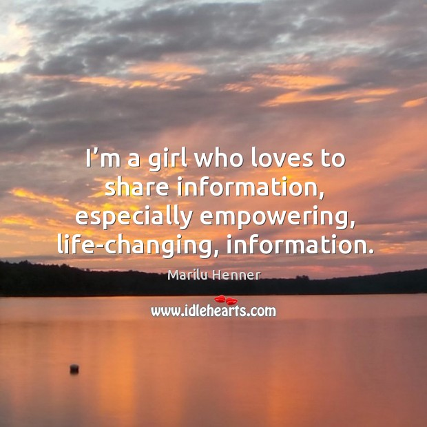 I'm a girl who loves to share information, especially empowering, life-changing, information. Image