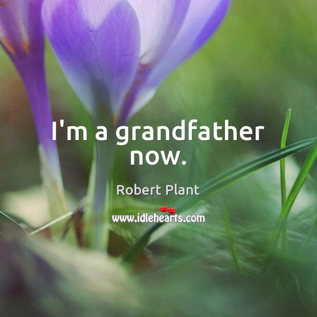 Robert Plant Picture Quote image saying: I'm a grandfather now.