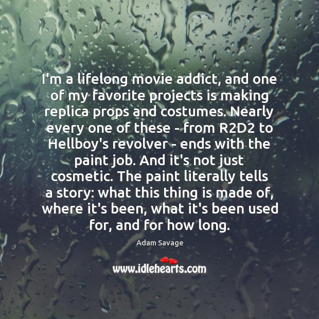 Image, I'm a lifelong movie addict, and one of my favorite projects is