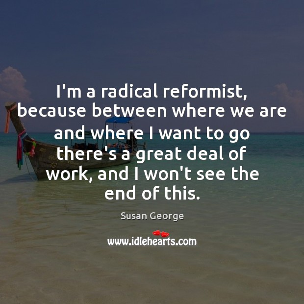 I'm a radical reformist, because between where we are and where I Image