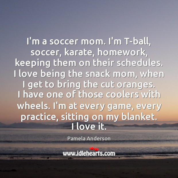 Image, I'm a soccer mom. I'm T-ball, soccer, karate, homework, keeping them on