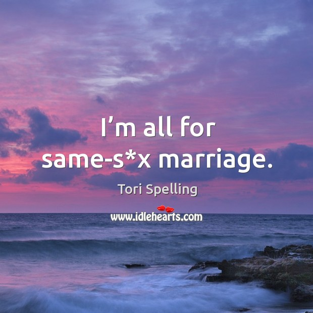 I'm all for same-s*x marriage. Image