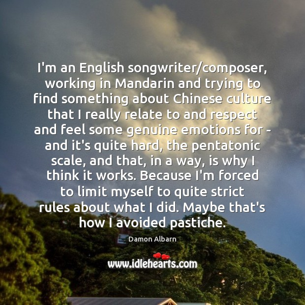 I'm an English songwriter/composer, working in Mandarin and trying to find Image