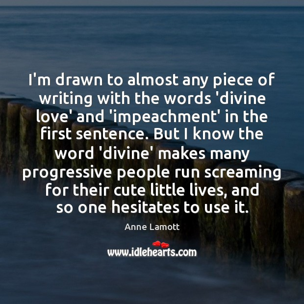 I'm drawn to almost any piece of writing with the words 'divine Image