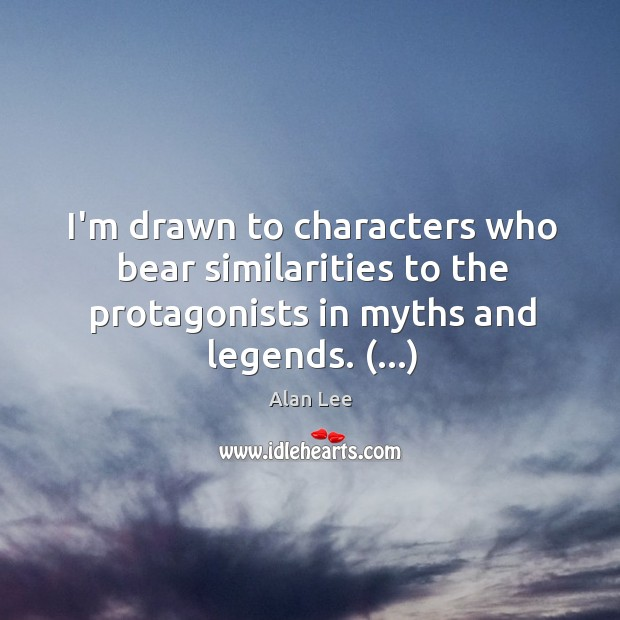 Image, I'm drawn to characters who bear similarities to the protagonists in myths