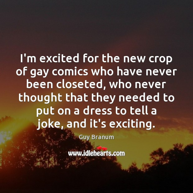 I'm excited for the new crop of gay comics who have never Image