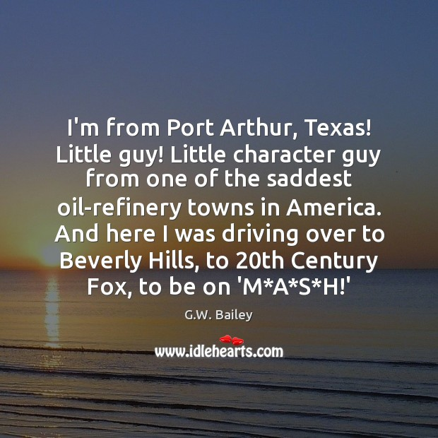 I'm from Port Arthur, Texas! Little guy! Little character guy from one Image