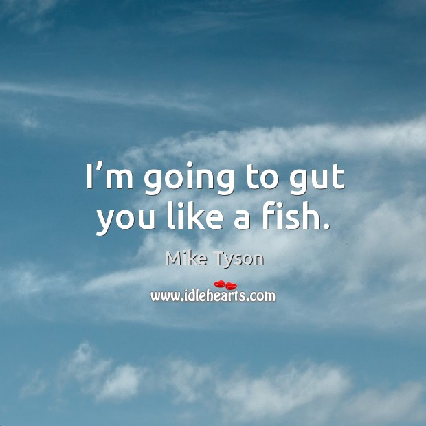 I'm going to gut you like a fish. Image
