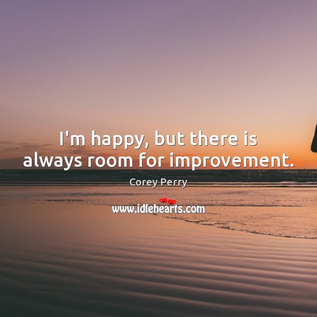 I'm happy, but there is always room for improvement. Image