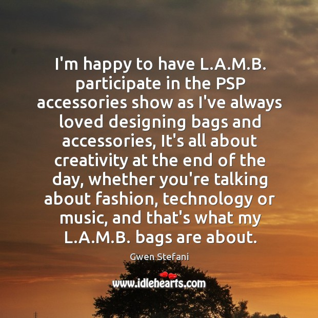 I'm happy to have L.A.M.B. participate in the PSP Image