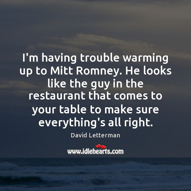 I'm having trouble warming up to Mitt Romney. He looks like the Image