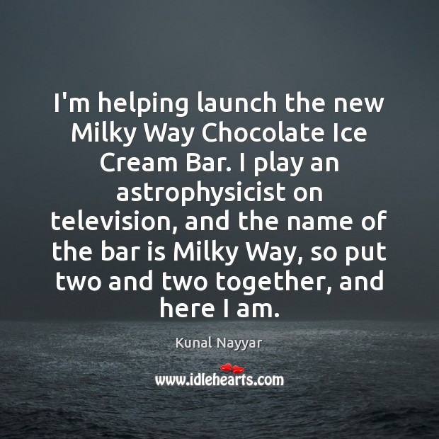 I'm helping launch the new Milky Way Chocolate Ice Cream Bar. I Image