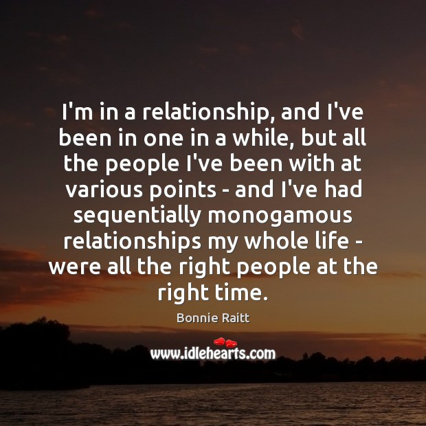 I'm in a relationship, and I've been in one in a while, Image
