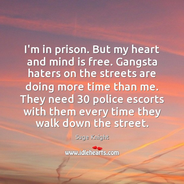 I'm in prison. But my heart and mind is free. Gangsta haters Image