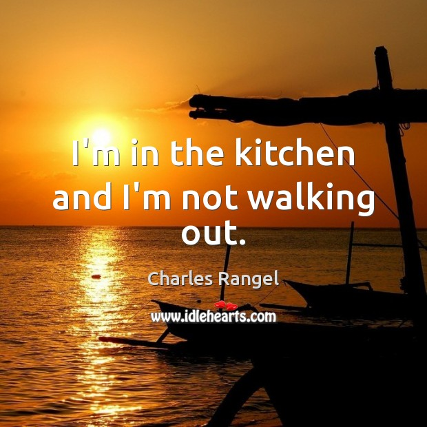 I'm in the kitchen and I'm not walking out. Image