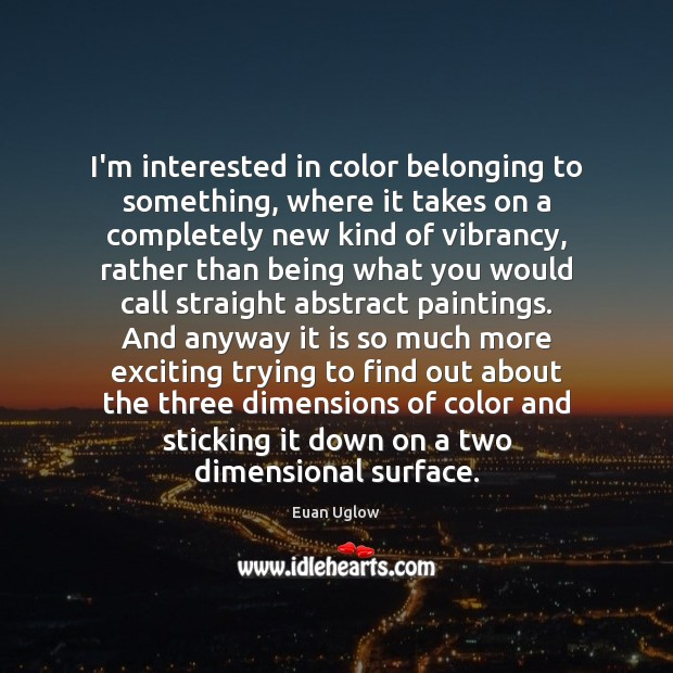 Image, I'm interested in color belonging to something, where it takes on a