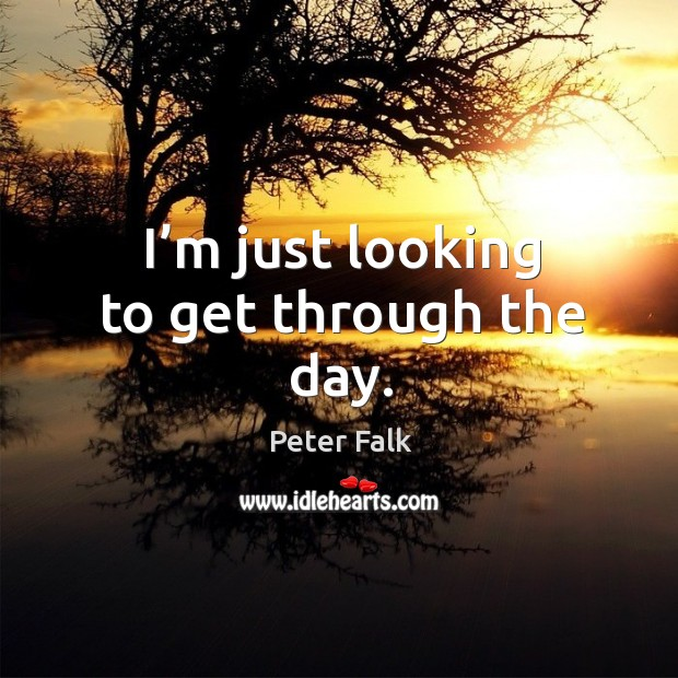 Picture Quote by Peter Falk