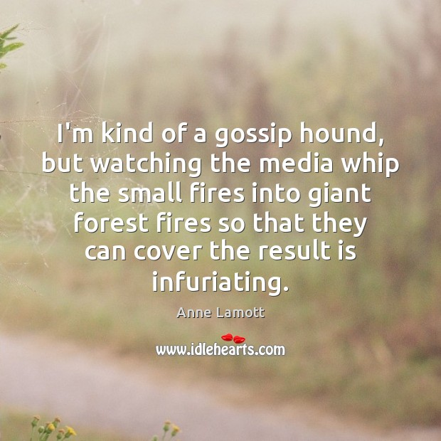 I'm kind of a gossip hound, but watching the media whip the Image