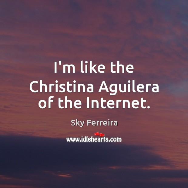 Image, I'm like the Christina Aguilera of the Internet.