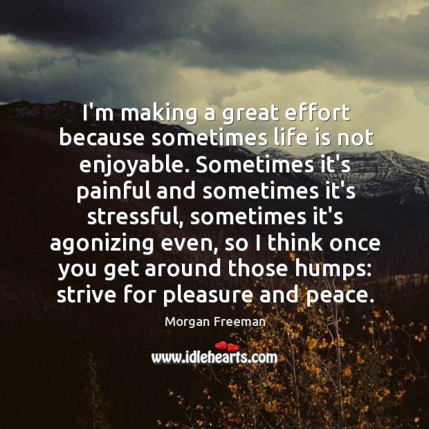 I'm making a great effort because sometimes life is not enjoyable. Sometimes Image