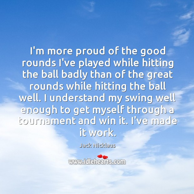 Picture Quote by Jack Nicklaus