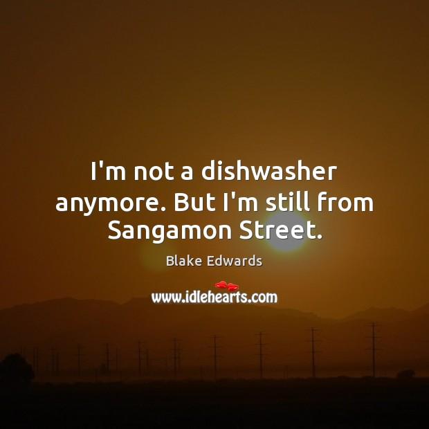 Image, I'm not a dishwasher anymore. But I'm still from Sangamon Street.