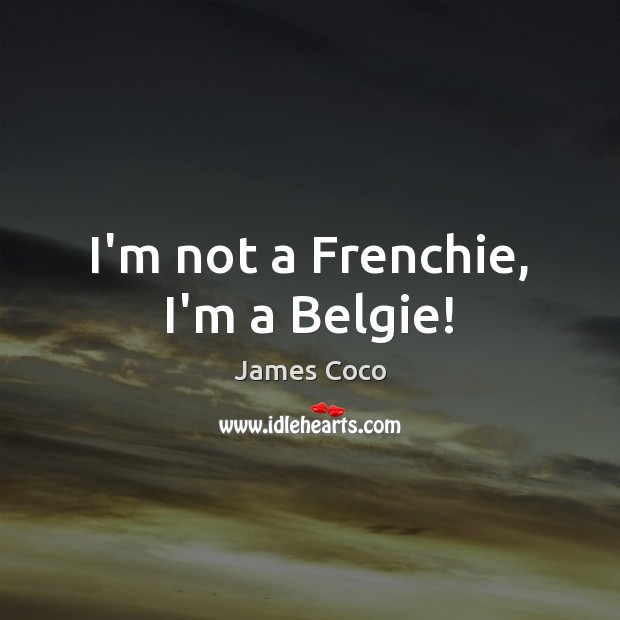 I'm not a Frenchie, I'm a Belgie! Image