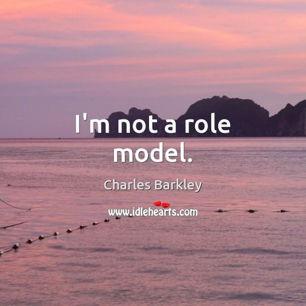 I'm not a role model. Image